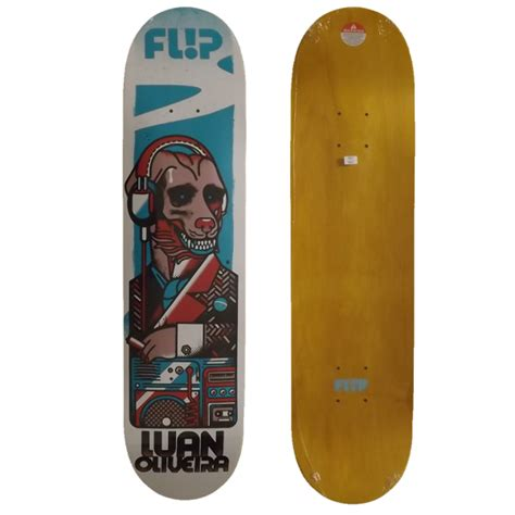 Deck Pappy Bob And Tom by Shape Flip Odissey Luan De Oliveira 8 0 Jahu Skateboard