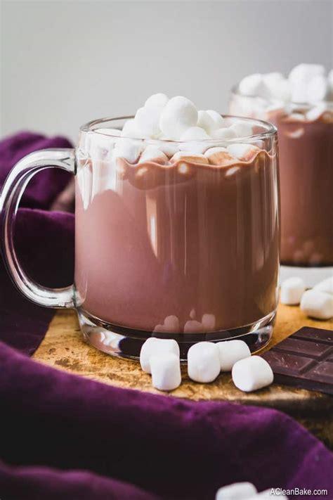 paleo vegan hot chocolate mix drink  sugar