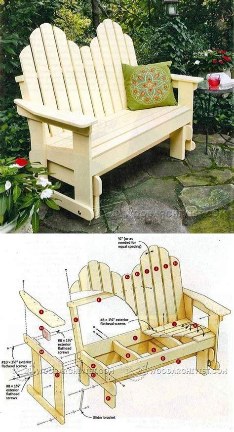 adirondack glider bench plans outdoor furniture plans