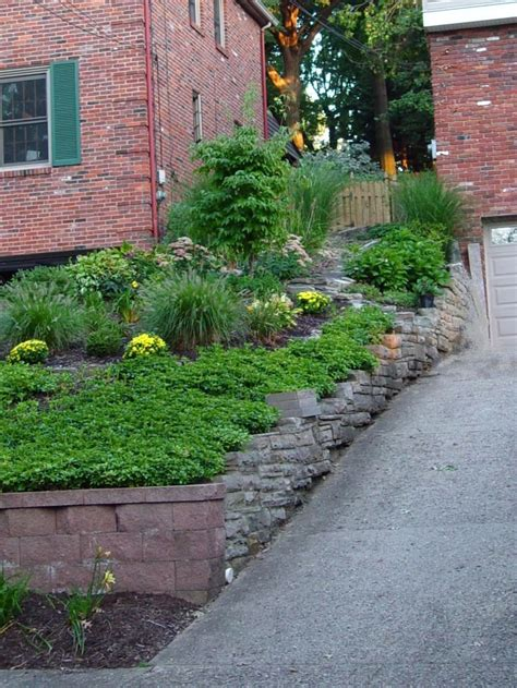 sloped garden ideas designs homeofficedecoration sloping front garden design ideas