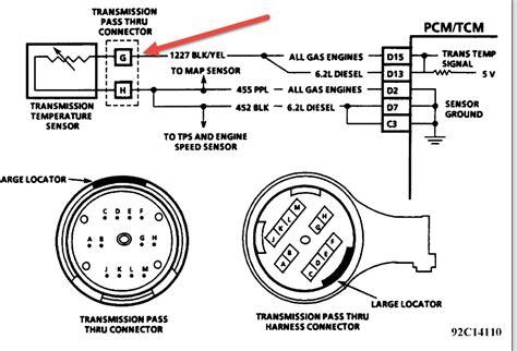 4l60e Wiring Voltage by 4l80e Transmission Temperature Sensor Issue Transmission