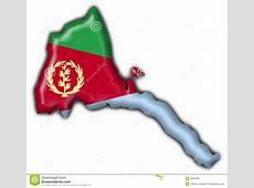 Eritrea Button Flag Map Shape Royalty Free Stock Photos