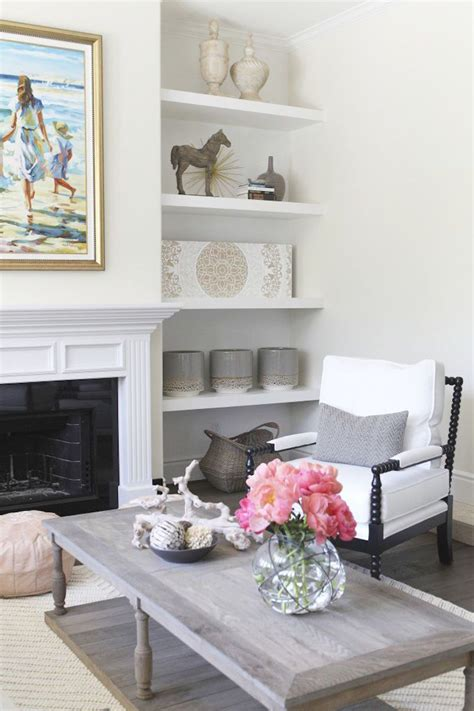 Bookshelves As Room Focus by Updated Living Room Interior Design Becki Owens Cococozy