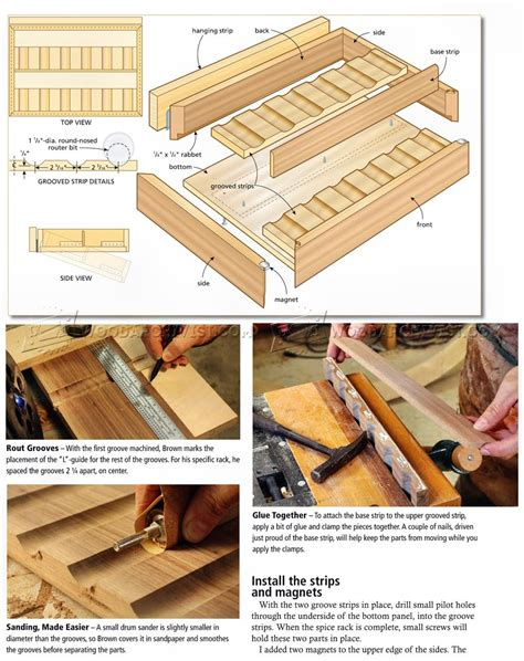 Spice Rack Woodworking Plans by Diy Spice Rack Woodarchivist