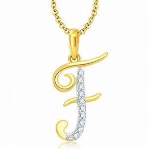 buy exclusive pissara letterquot fquot gold and rhodium plated With letter pendant online