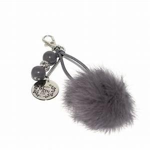 Pompon Porte Clef : porte clef best mom ever pompon et perles grises anneau porte cl creavea ~ Teatrodelosmanantiales.com Idées de Décoration
