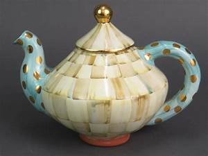 mackenzie childs parchment check teapot 0111512140 ebay With mackenzie childs letter opener