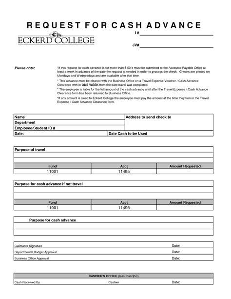 20026 employee advance form employee advance agreement template templates