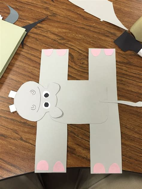 hippo alphabet crafts preschool alphabet