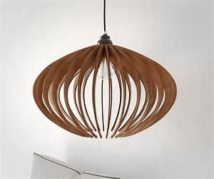 Luminaire Suspension Bois : suspension bois lustre en bois lampe de plafond en bois ~ Teatrodelosmanantiales.com Idées de Décoration