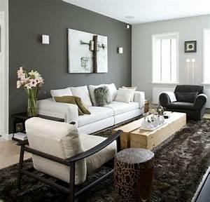 Peinture Moderne Salon : peinture grise pour les murs du salon top id es en 27 photos ~ Teatrodelosmanantiales.com Idées de Décoration