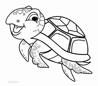 Turtle Coloring Sea Pages Printable Cool2bkids