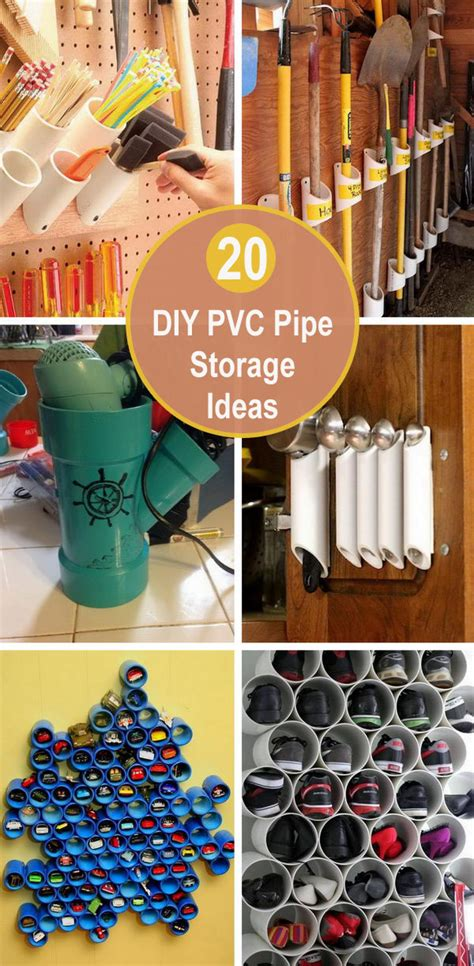 DIY PVC Pipe Storage Ideas