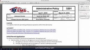 2015 Policy Manual Update - 3201 Ambulance Permits - YouTube