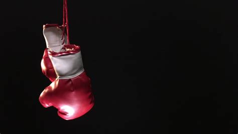 red boxing gloves hanging  stock footage video