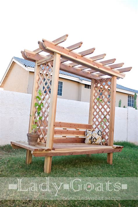 ana white outdoor bench  arbor diy projects