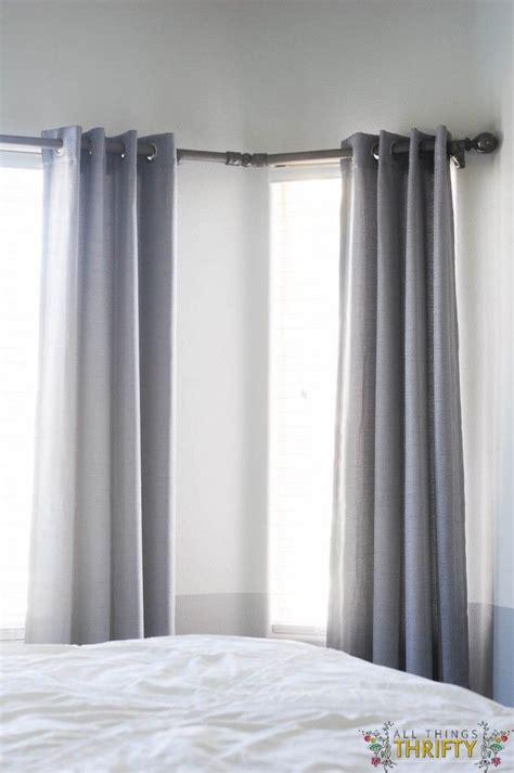 luxury corner curtain rods  windows kinjenk house