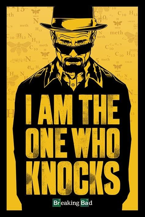 breaking bad i am the one who knocks poster affiche