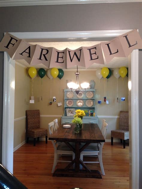 farewell banner farewell decorations farewell party