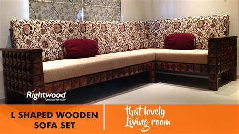 How To Make A Sofa Set by L Shape Wooden Sofa Set Designs Www Pixshark Com