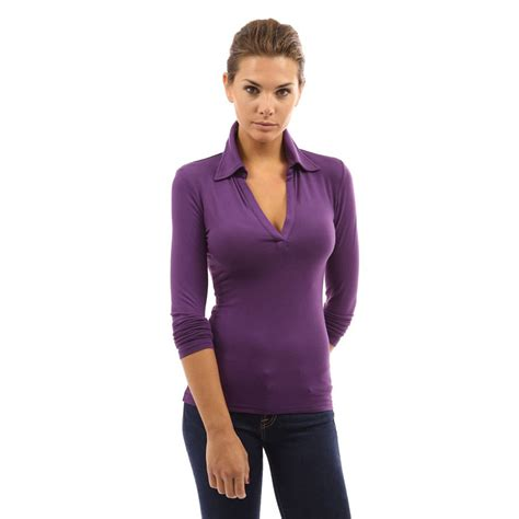 blouse vs shirt womens v neck sleeve polo shirt slim fit casual