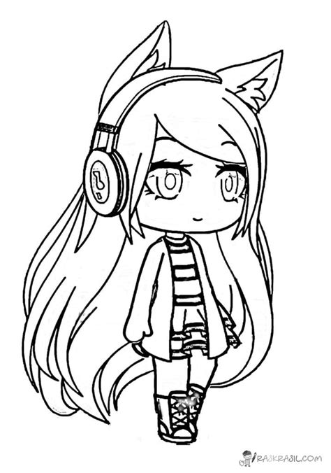 cute gacha life coloring pages