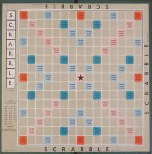 vintage 1948 scrabble game board only choose colour or