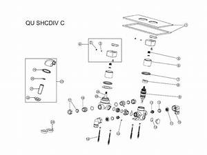 Shower Spares For Bristan Qube Dual Control Shower Valve With Integral Diverter