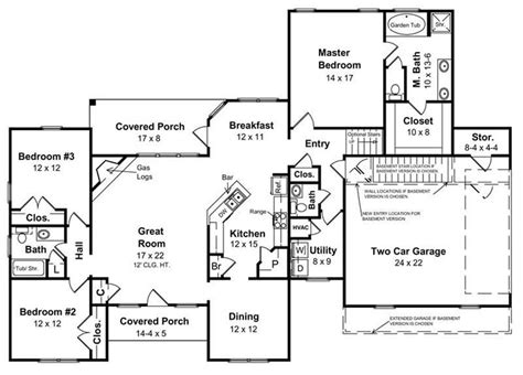 style house plans ranch style house plans with basement inspirational ranch