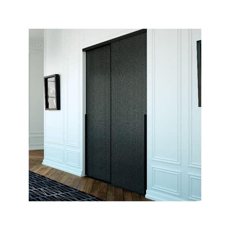 portes de placard coulissante verre laqu 233 d 233 co ellipse noir