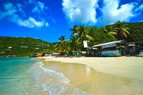 The Beach Bars Of Cane Garden Bay, Tortola, British Virgin