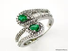 emerald and engagement rings engagement wedding rings