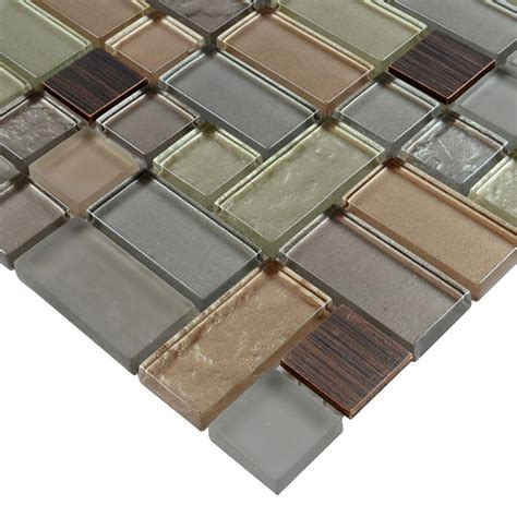 stainless steel tile metal glass tile mosaic brushed stainless steel