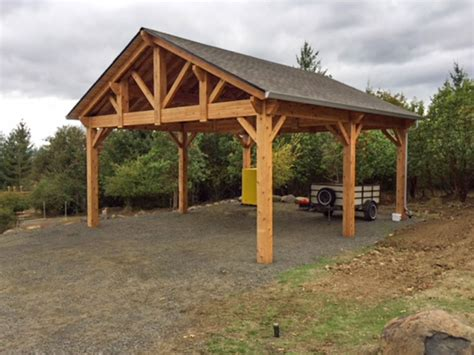 timber frame carports building an easy diy rv cover western timber frame