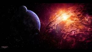 Deviantart digital art nebulae outer space planets ...