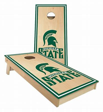 Cornhole Michigan State Boards Spartans Surface Stained