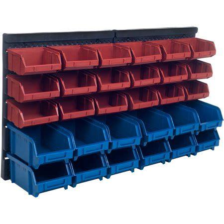 walmart storage rack stalwart 30 bin wall mounted parts rack walmart