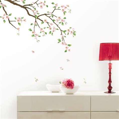 cuisine cherry stickers muraux fleurs sticker cerisier en fleurs