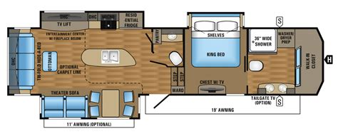 Jayco 5th Wheel Floor Plans 2018 by 2017 Luxury Fifth Wheel Floorplans Prices