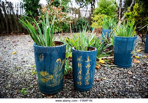 japanese garden planters tall pots stock photos tall pots stock images alamy