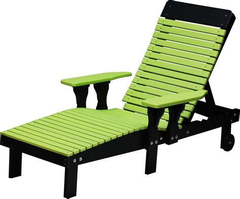 Outdoor Poly Lumber Reclining Chaise Lounge Chair With