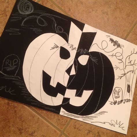 spook tacular negative space pumpkin craft create