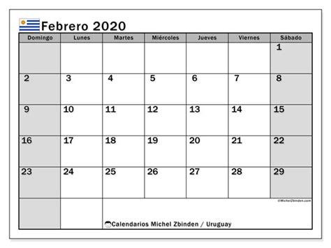 calendario febrero uruguay michel zbinden es