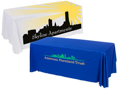 custom table covers with logo custom table covers skirts personalized logos graphics