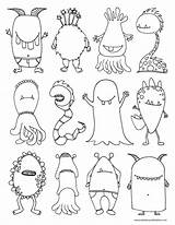 Coloring Monsters Monster Scary Pages Printable Colouring Colour Sheet Halloween Babbles Dabbles Feelings Drawing Children Boys Child Fun Kid sketch template