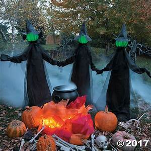 glowing, face, witch, halloween, decoration, set