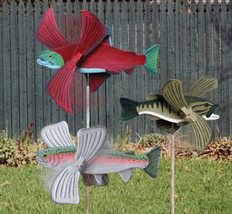 fish whirligigs projects wind spinners wood crafts