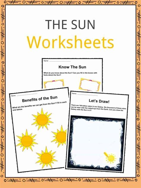 The Sun Facts, Worksheets & Key Information For Kids