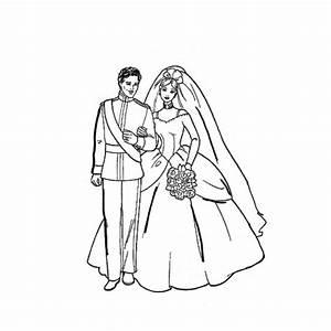 Dessin Couple Mariage Couleur : coloriage couple mariage dessin gratuit imprimer ~ Melissatoandfro.com Idées de Décoration