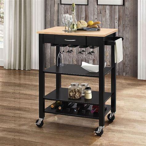 ottawa kitchen cart naturalblack acme furniture